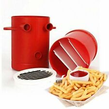 DIY Easy Fries Potatoes Maker Potato slicers French Fries Maker Cutter Red #@#