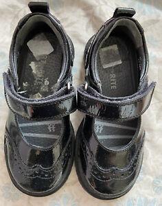 Start Rite Girls Black Shoes Size UK 8.5F