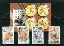 TUVALU 1992 Sc#612-616 SUMMER OLYMPIC GAMES BARCELONA SET OF 4 STAMPS & S/S MNH