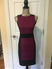 Michael Kors Women's Sleeveless Dress Pink & Black Size 0 EUC