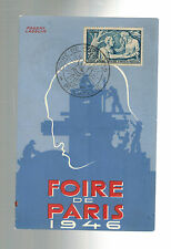1946 Paris France Air Show Postcard Cover # B113