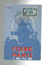 1946 Paris France Air Show Postcard Cover # B113