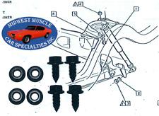 1955-1981 GM Chevy Pontiac Buick Oldsmobile Rear End Shock Hardware Bolts 8pc BG