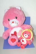 "Care Bears Love A Lot Bear Plush doll SET 14"" ,7"""