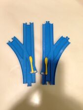 Thomas Train Trackmaster Tomy R-11 Plarail Blue Split Switch Turn Out Track Lot