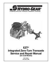 Hydro Gear EZT (ZC & ZD Models) Transaxle Repair Manual