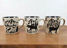 Set of 3 Mossy Oak 16 Oz. Nature Hunting Fishing Ceramic Coffee Mugs