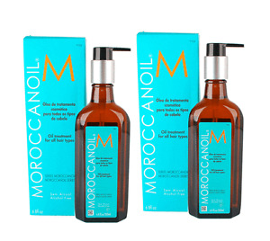 2 x Moroccan Oil Argan Oil For All Hair Types 200ml With Pump