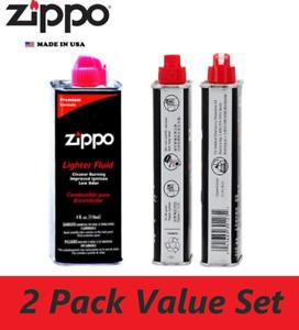 2 Packs ZIPPO 125ML PREMIUM LIGHTER / HAND WARMER FLUID - MADE IN USA