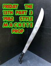 "Friday The 13th Jason Prop Machete Vintage Collins Repro 27.5"" Wood And Aluminum"