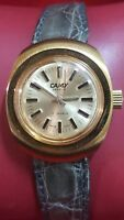 NOS GP Mechanical Camy 17 jewels women crocodile leather band with box