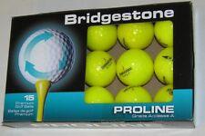 15 Bridgestone e6 Yellow golf balls Mint AAAAA grade LOT 88174