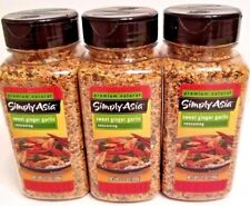 Simply Asia SWEET GARLIC GINGER Seasoning Spice Lot of THREE (3) 12 oz Bottles