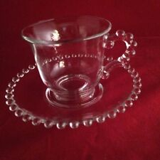 VINTAGE IMPERIAL CANDLEWICK  CUPS AND SAUCERS SET Of 8