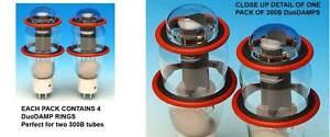4 DuoDAMP 300B TUBE AMP DAMPERS FOR 300 B LARGE ST TUBES