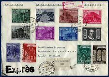 """1949 - Serie completa """"Basiliche"""" su Raccomandata Espresso per la Svizzera"""