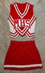 MHS Medford High School Cheerleading White Red Silver Cardinals Cheer Uniform