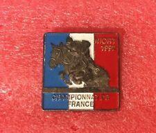 Pins Cheval Turf Hippisme Course CHAMPIONNAT DE FRANCE SAUT D'OBSTACLE NIORT 92