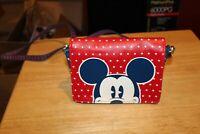 Disney Parks Mickey Mouse Americana Crossbody Bag Purse Small Red White Blue