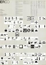 Otl Aicher Piktogramme 1985 Plakat DIN A1 SELTEN Design / Grafik / Olympia ERCO