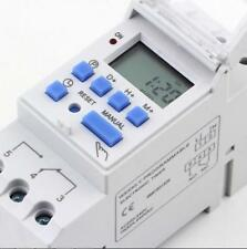 DIN Rail Time Relay Switch Digital LCD Power Programmable Timer AC 220V 16A