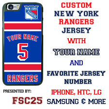 New York Rangers Personalized Hockey Jersey Phone Case Cover for iPhone etc.