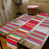 2pcs Mexican Serape Placemats Colorful Table Cover Mexican Wedding Fiesta Party