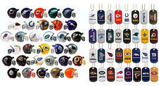 MINI NFL FOOTBALL HELMETS AND DOG TAG KEYCHAINS AND NECKLACES, COMPLETE SETS 32