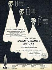 PUBLICITE ADVERTISING 125  1959  L'Eau Chaude au gaz