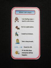 Anger Help Pocket Prompt Card Autism ADHD Pecs Sen Dementia Visual Behaviour Aid