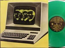 KRAFTWERK COMPUTER WORLD Rare GREEN COLORED VINYL LP +insert HS3549 WB 1981 GD+
