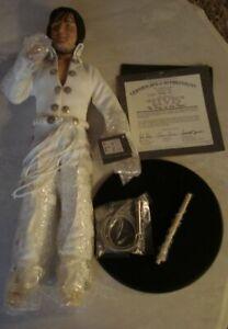 ELVIS PRESLEY 1993 ASHTON DRAKE PORCELAIN DOLL- NEW, BOX WEAR/ KING OF LAS VEGAS
