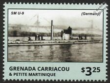 SM U-9 Imperial German Navy U-Boat Submarine WWI Warship Stamp