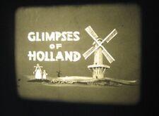 16mm Film Glimpses of Holland Walton Production Travelogue B/W Silent Fab Con
