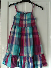 TURQUOISE AND PURPLE DRESS, AGED 11