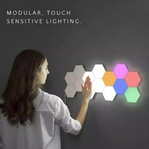 Quantum Lamp Led Hexagonal Lamps Touch Sensitive Lighting Night Light ( 5 Tiles)