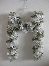Hand KNITTED RUFFLE SCARF Fashion Sashay WOMEN'S ACCESSORY Tope and white