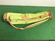 RARE Mulholland Brothers SUNDAY GOLF BAG Lime Green YELLOW Single Strap USED