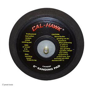 "6"" D/A SANDING PAD – dual action random orbital sander pads – automotive tools"