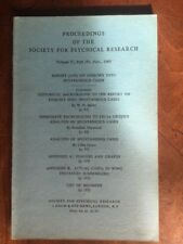 Proceedings Society for Psychical Research. Vol 53, 191, Nov 1960
