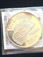1998 Gateway Coin Club's 25th Anniversary Silver 1oz. Round , Rare 22 of 100
