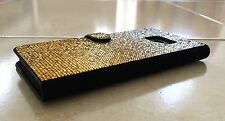 Faded Gold Made with Swarovski Crystal Bling Sparkle Wallet Case iPhone 7/8 Plus