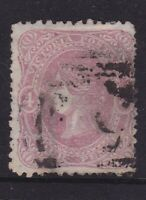 "VICTORIA 1862 4d Dull Rose QV BEADED OVAL WMK ""4"" SG 95a (HC133)"