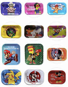 Smoke Arsenal | Rolling Papers Metal Tray | Cartoon Character Designs | Deals