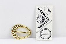 Gold Color Scarf Clip Shawl Clip Accessory Street VTG Vintage