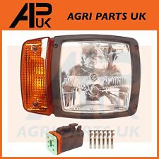 RH JCB Telehandler Loader Loadall Headlight Head Light Lamp Headlamp & Plug