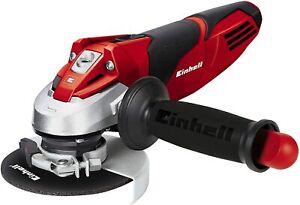 Smerigliatrice angolare da 220 V, Einhell 4430850 720 W, Protezione disco, Rosso