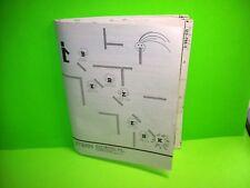Stern BERZERK Original 1980 Video Arcade Game Manual + (10) Diagrams Schematics