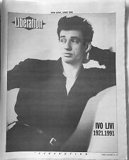LIBERATION 12 NOVEMBRE 1991 - YVES MONTANT CAHIERS SPECIAL 12 PAGES - PASOLINI