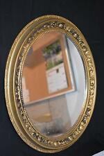 VINTAGE GOLD 60s 70s OVAL ORNATE MIRROR PLASTIC PAINTABLE Wedding Picture Frame